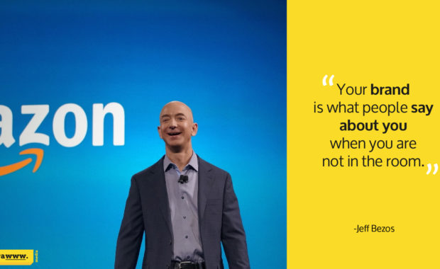 Amazon founder Jeff Bezos quote on branding