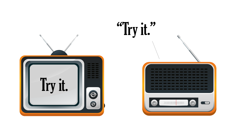 Word of Mouth Marketing - Advertisements on TV and Radio