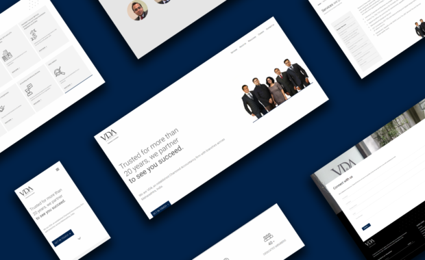 UI/UX Design of VDA & Associates Pages