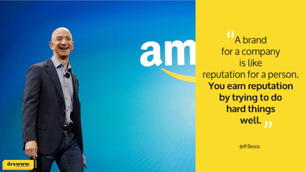 Quote on branding by Amazon founder Jeff Bezos